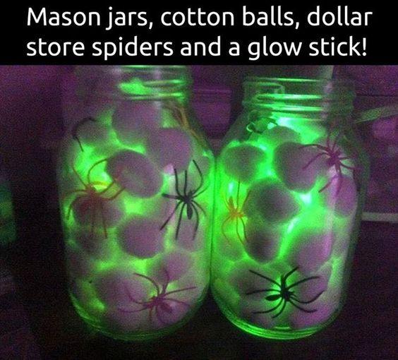 Eerie Spiders in a Jar Glow.