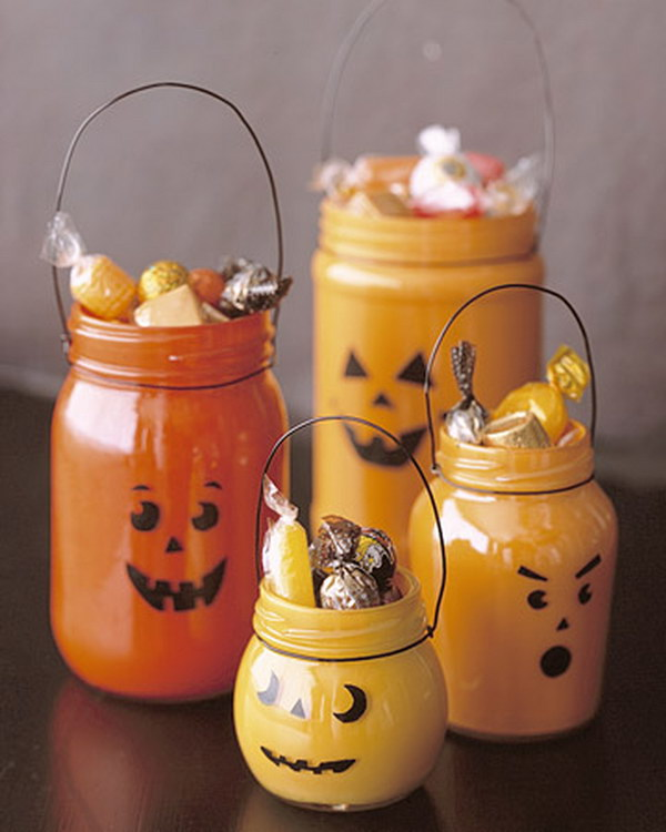 Jar o' Lanterns Painted Jars.