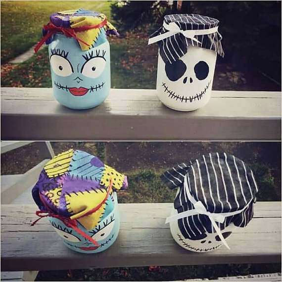 Jack & Sally Mason Jars.
