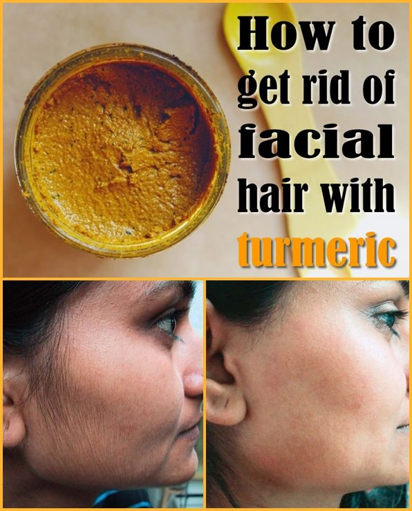 Get Rid of Facial Hair with Turmeric.