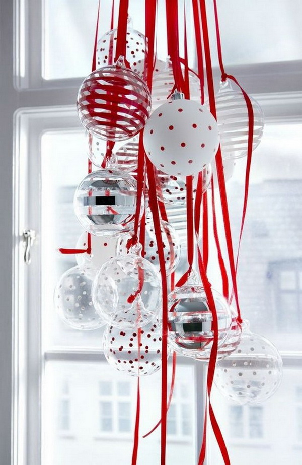 Hang Ornaments for Christmas Window Decorations