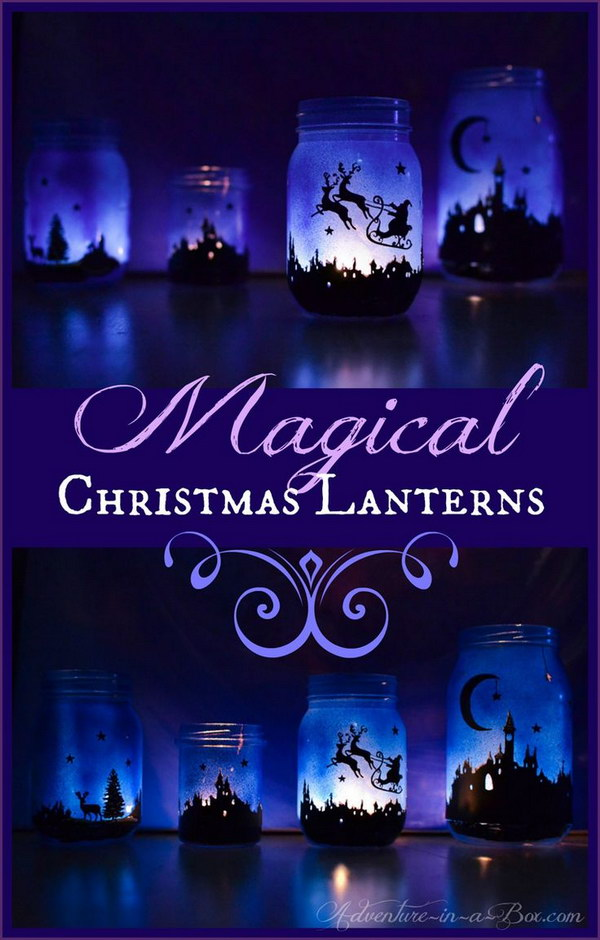 DIY Magical Christmas Lanterns