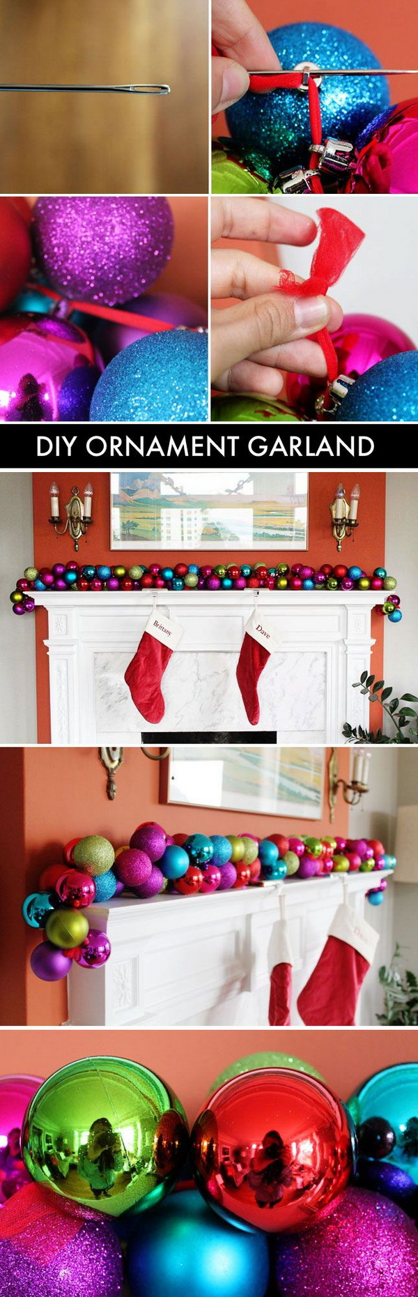 Awesome DIY Ornament Garland