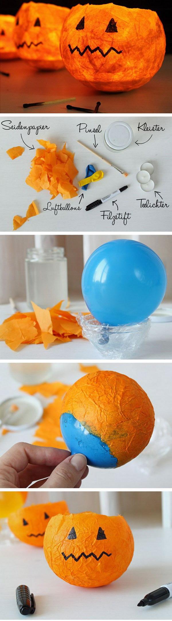 DIY Pumpkin Lanterns.