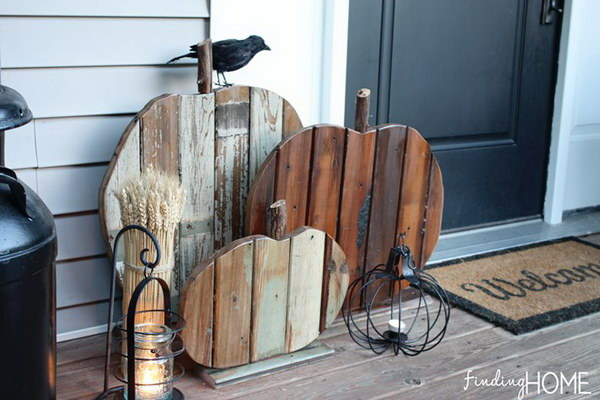 DIY Reclaimed Wood Pumpkins.