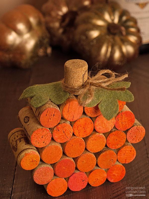 Wine Cork Pumpkin.