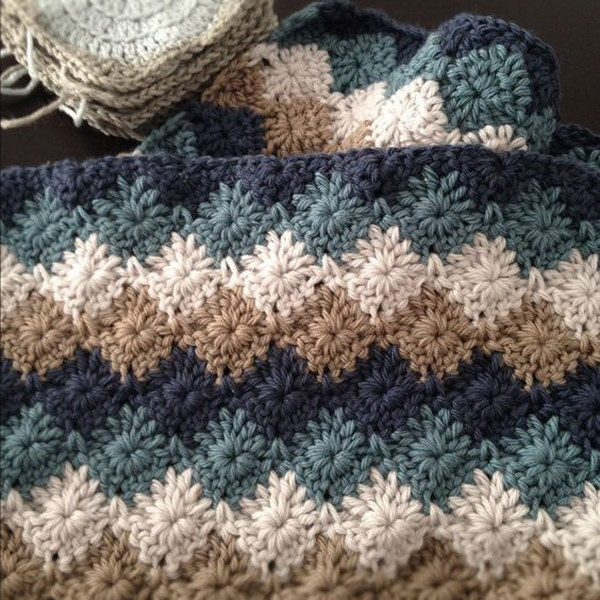 Free Crochet Patterns For Blankets And Throws : 20+ Free Crochet Blanket Patterns with Lots of Tutorials