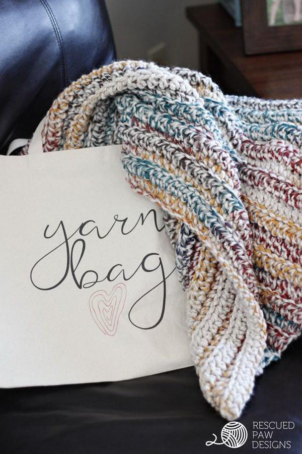 Chunky Crochet Blanket Pattern.