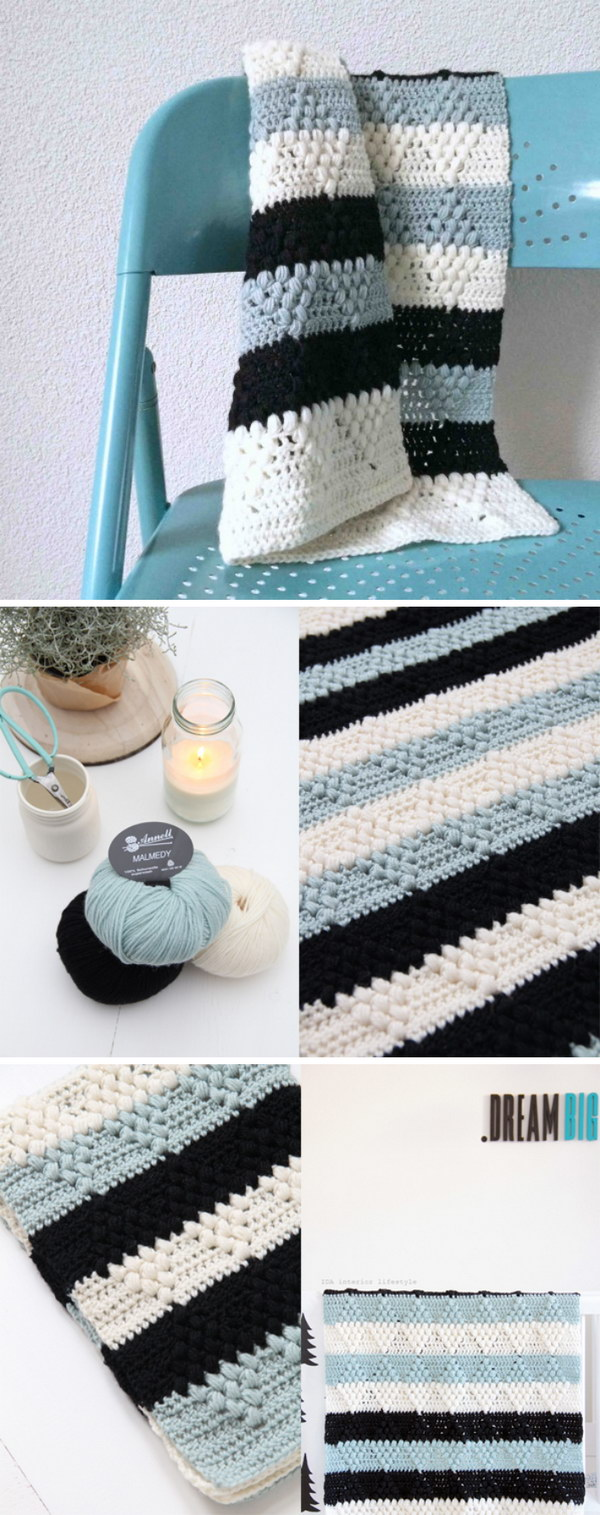 Crochet Pattern Diamanti Blanket.