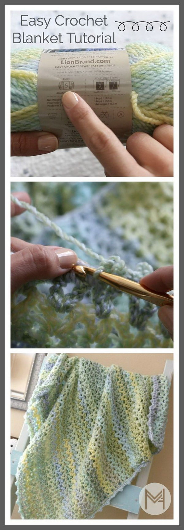 20 free crochet blanket patterns with lots of tutorials easy strips baby blanket crochet pattern baditri Image collections