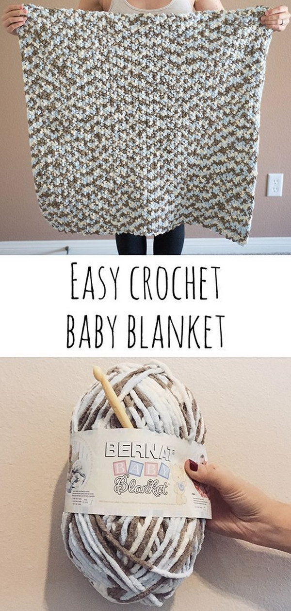 Easy Crochet Baby Blanket.