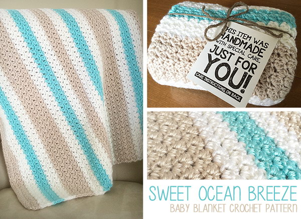 Sweet Ocean Breeze Baby Blanket.