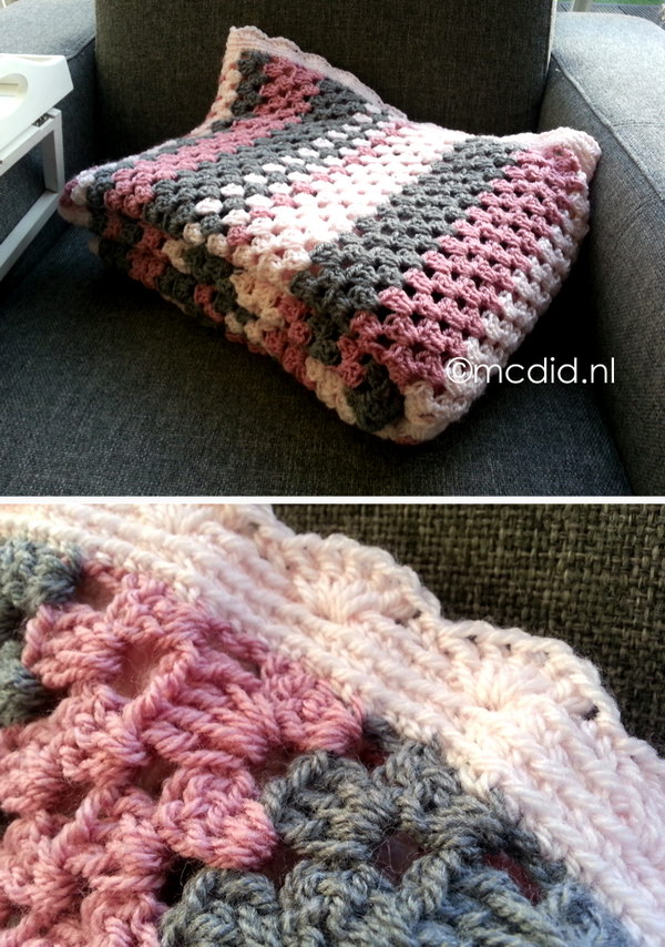 Granny Stripes Crochet Blanket.