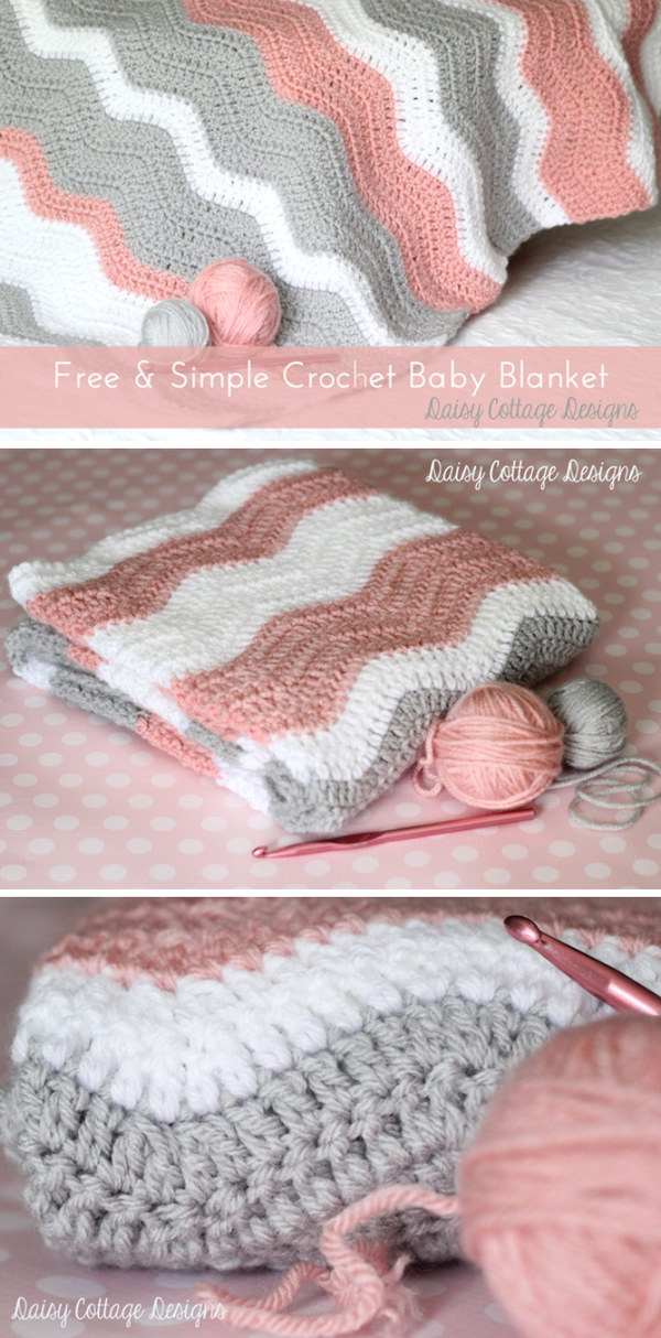 Free Crochet Baby Blanket Patterns Simple Baby Blankets : 20+ Free Crochet Blanket Patterns with Lots of Tutorials