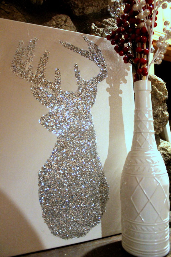 Awesome glitter diys for holiday decoration for Christmas decoration ideas to make