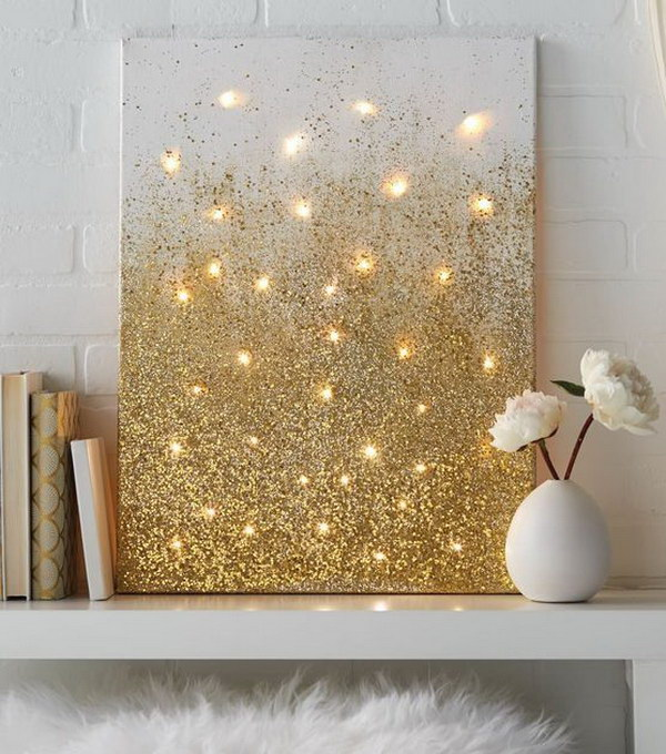 Glitter and Lights Canvas.