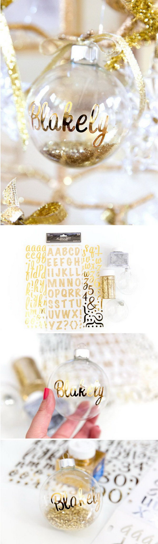 DIY Personalized Ornaments For Christmas.