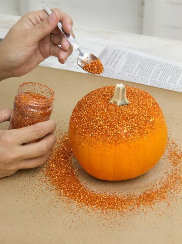 Glittered Pumpkins.