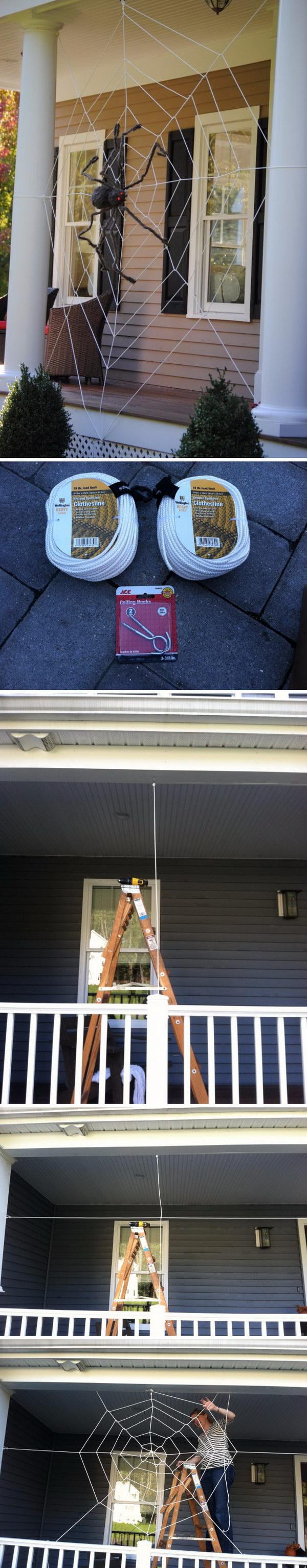 DIY Tangled Spider Web.