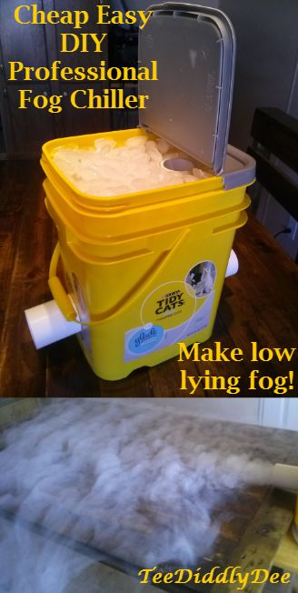 Make Spooky Low Lying Fog with a DIY Replica of an Expensive Professional Fog Chiller!.