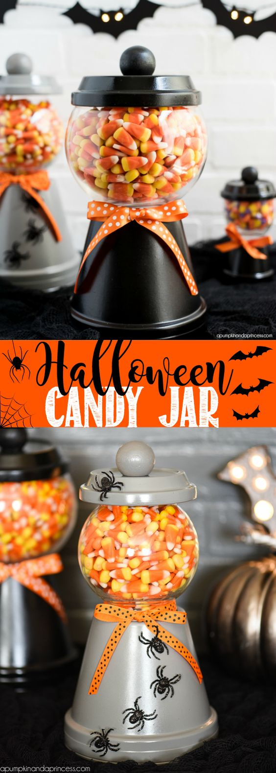Halloween Candy Jar.