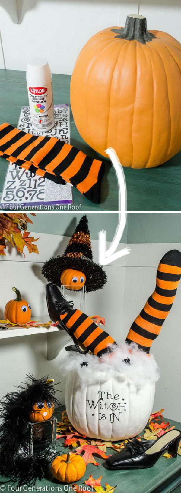 Cute DIY Halloween Pumpkin.