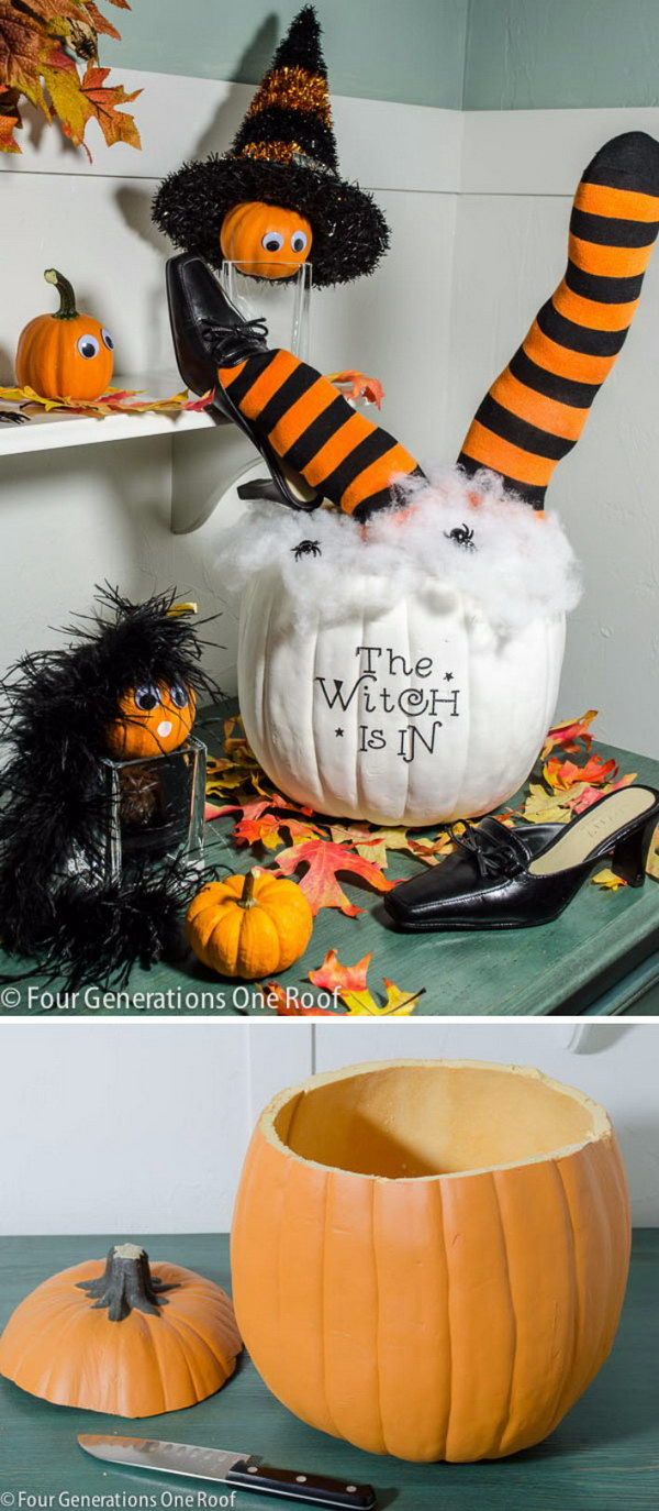 Cute DIY Halloween Pumpkin.