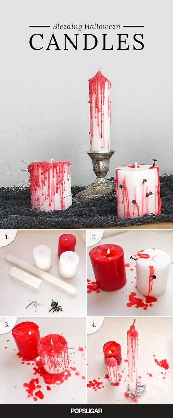 DIY Bleeding Votives Using Dollar Store Candles