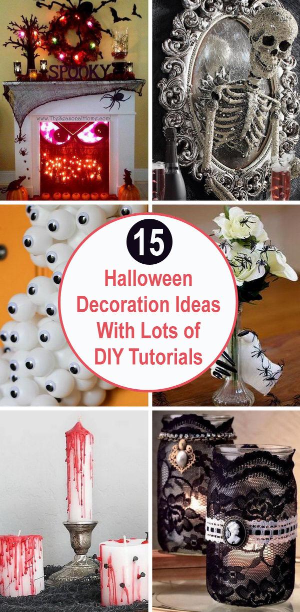 15+ Halloween Decoration Ideas With Lots of DIY Tutorials