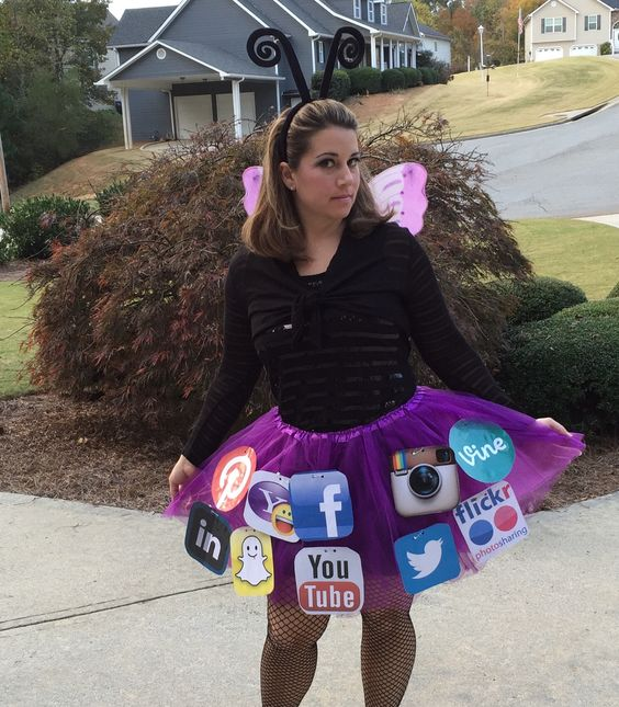 Social Butterfly Halloween Costume.