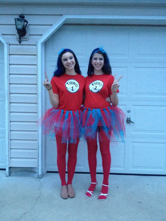 Last Minute Thing 1 and Thing 2 Costumes .