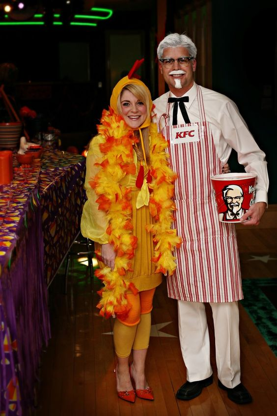 KFC and Chicken Costume.