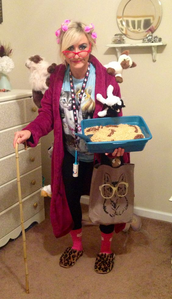 Crazy Cat Lady Costume.