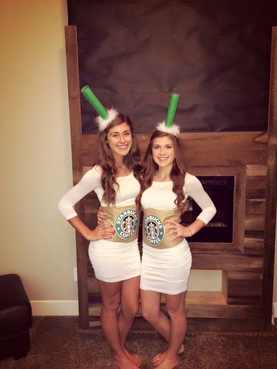 DIY Starbucks Halloween costume.