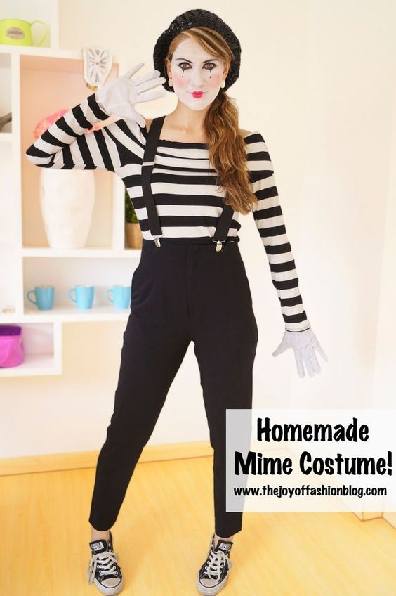Easy Mime Halloween Costume.  sc 1 st  Styletic : last minute costumes halloween  - Germanpascual.Com