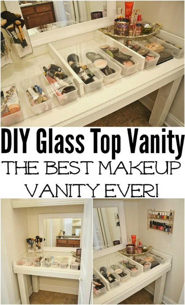 DIY Glass Top See Through Vanity