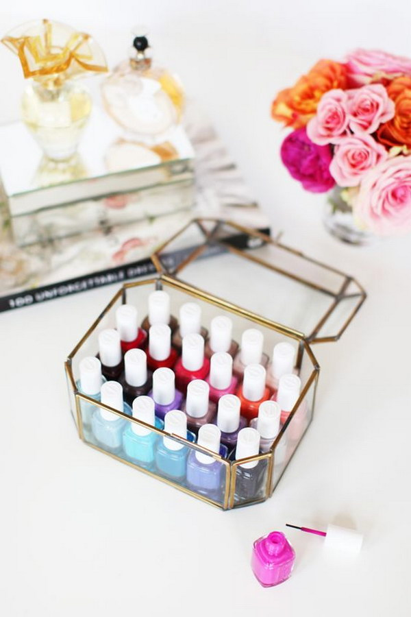 Use A Jewelry Box For Nail Polishes Storage