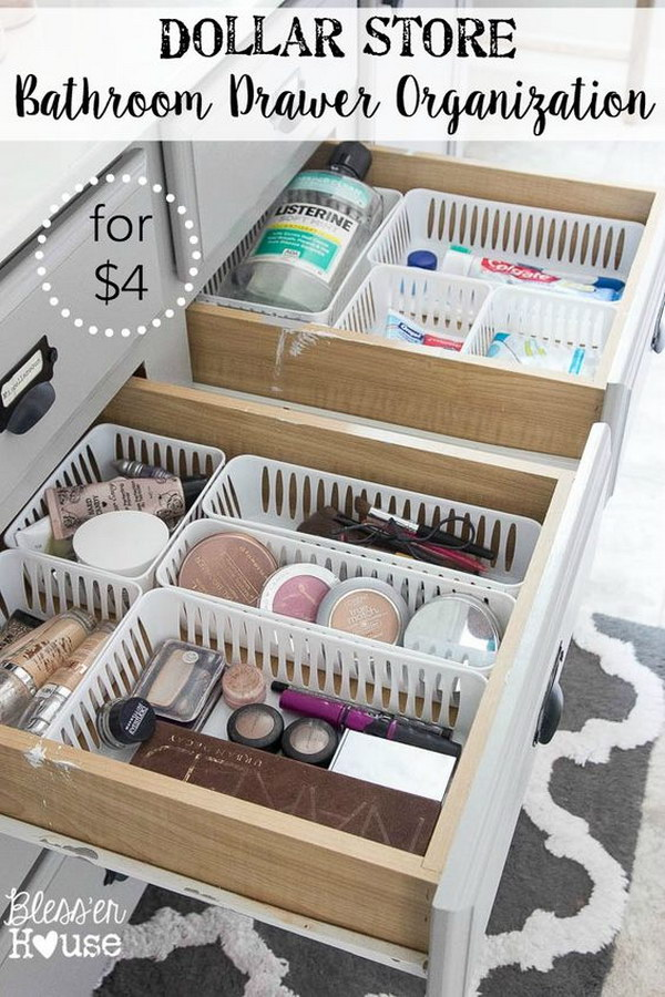 Vanity Drawer Dollar Store Basket Dividers