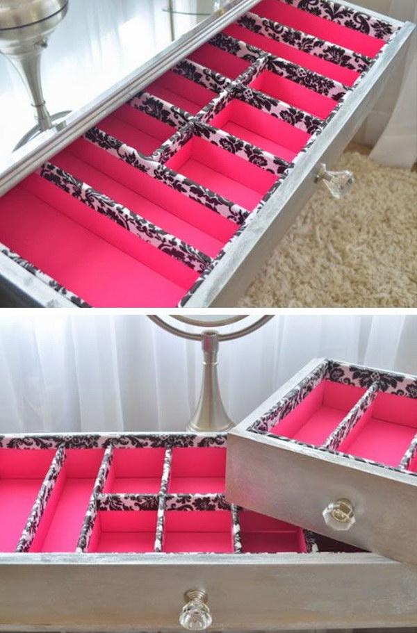DIY Vanity Drawer Organizer
