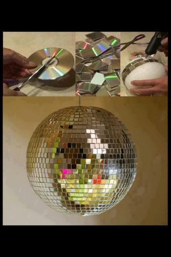 DIY Upcycled CD Disco Ball