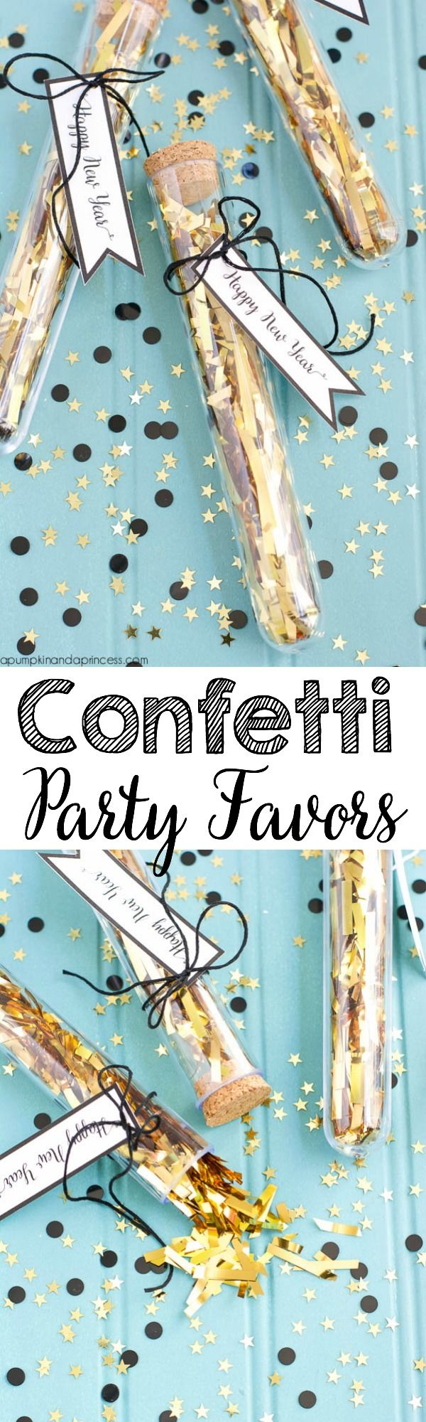 DIY New Year's Confetti Party Favors