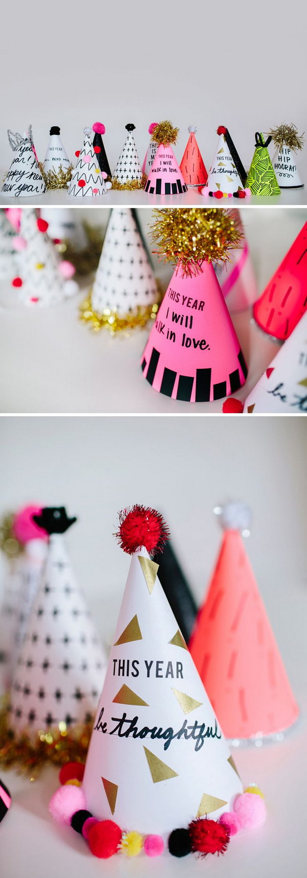 DIY New Year Resolution Party Hats