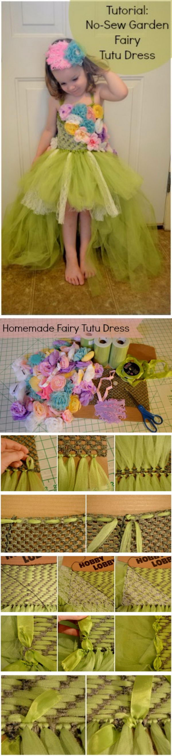 No Sew Fairy Tutu Dress.