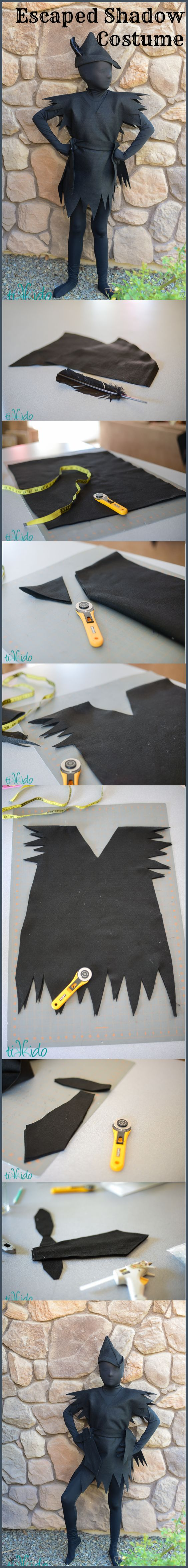 DIY Peter Pan's Escaped Shadow Costume.