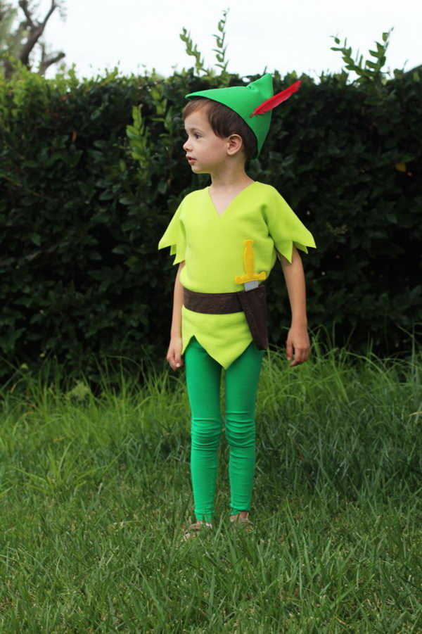 DIY Peter Pan Costume Tutorial.