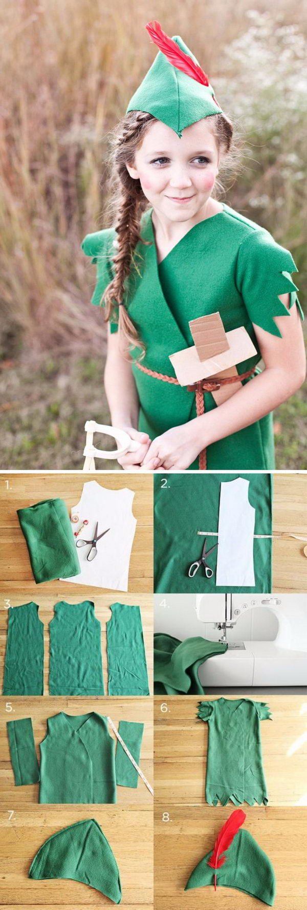 DIY Peter Pan Costume  sc 1 st  Styletic & 30+ Cool Peter Pan and Tinkerbell Costumes