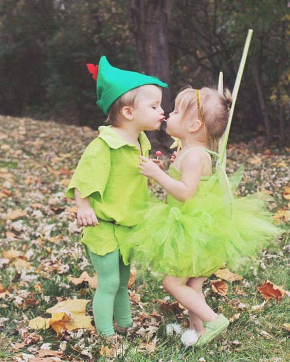 Cute Peter Pan and Tinkerbell Costumes.