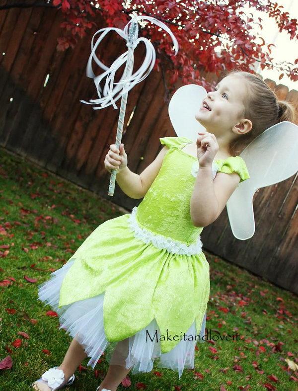 DIY Tinkerbell Costume.