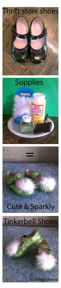 DIY Tinkerbell Shoes.