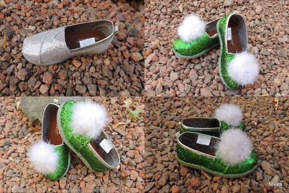 DIY Tinker Bell Jingle Shoes for less than $10.